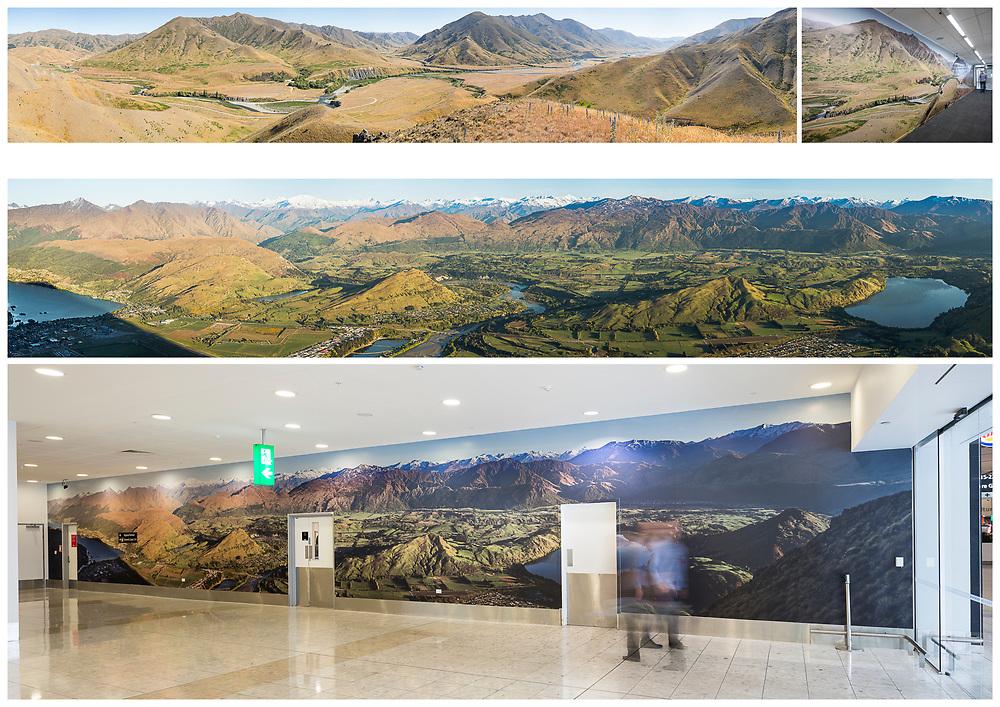 Christchurch International Airport - International Corridor Murals