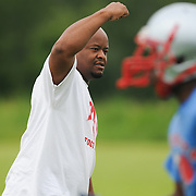 Pender High School football Coach Tony Hudson is pictured in practice at the school Friday August 1, 2014. (Jason A. Frizzelle)