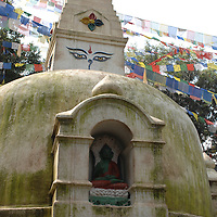 A small stupa at Swayambhunath - the Monkey Temple - in Nepal.