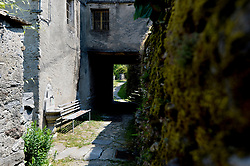 A general view of  the village Socraggio, where Paolina Grassi is the sole resident, in the Cannobina Valley, Italy