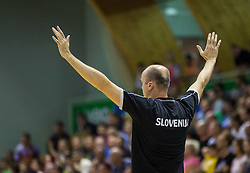 Jure Zdovc, head coach of Slovenia during friendly basketball match between National teams of Slovenia and Australia, on August 3, 2015 in Arena Tri lilije, Lasko, Slovenia. Photo by Vid Ponikvar / Sportida