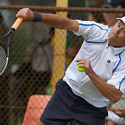 Peter Adrigan, Germany, in action in the 65 Mens Singles Final during the 2009 ITF Super-Seniors World Team and Individual Championships at Perth, Western Australia, between 2-15th November, 2009.
