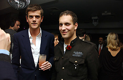 Left to right, the HON.ALEXANDER SPENCER-CHURCHILL and LORD FREDERICK WINDSOR at a party to celebrate the publication of Tatler's Little Black Book 2006 held at 24, 24 Kingley Street, London W1 on 9th November 2006.<br />