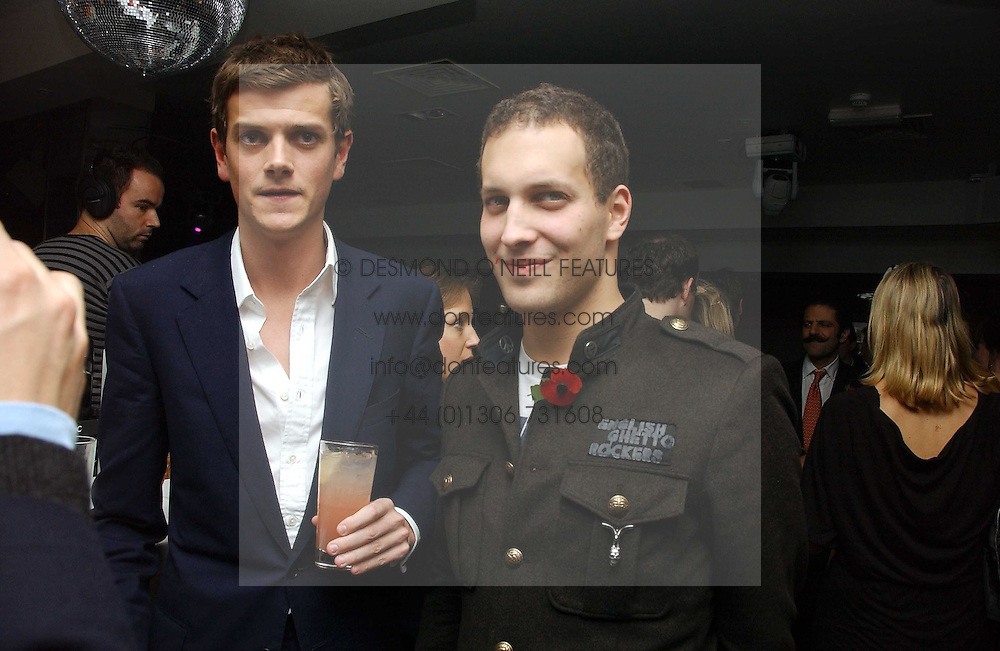 Left to right, the HON.ALEXANDER SPENCER-CHURCHILL and LORD FREDERICK WINDSOR at a party to celebrate the publication of Tatler's Little Black Book 2006 held at 24, 24 Kingley Street, London W1 on 9th November 2006.<br /><br />NON EXCLUSIVE - WORLD RIGHTS