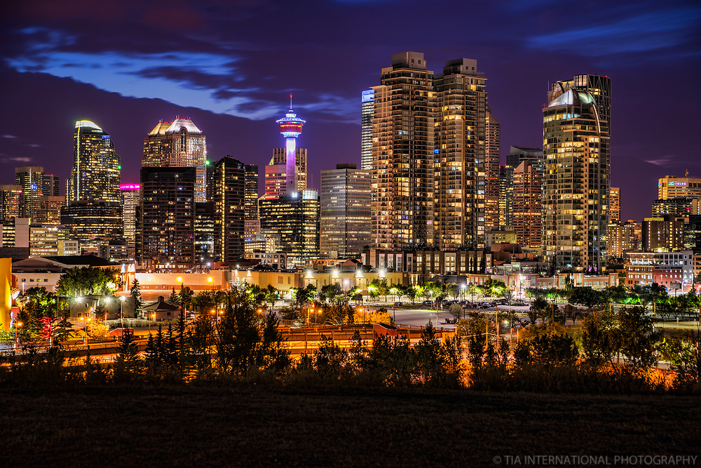 Downtown Calgary from Scotsmans Hill