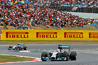 HAMILTON Lewis (Gbr) Mercedes Gp Mgp W05 action ROSBERG Nico (Ger) Mercedes Gp Mgp W05 action   during the 2014 Formula One World Championship, Grand Prix of Spain from may 8 to 11th 2014, in Barcelona, Spain. Photo Frederic Le Floc'h / DPPI