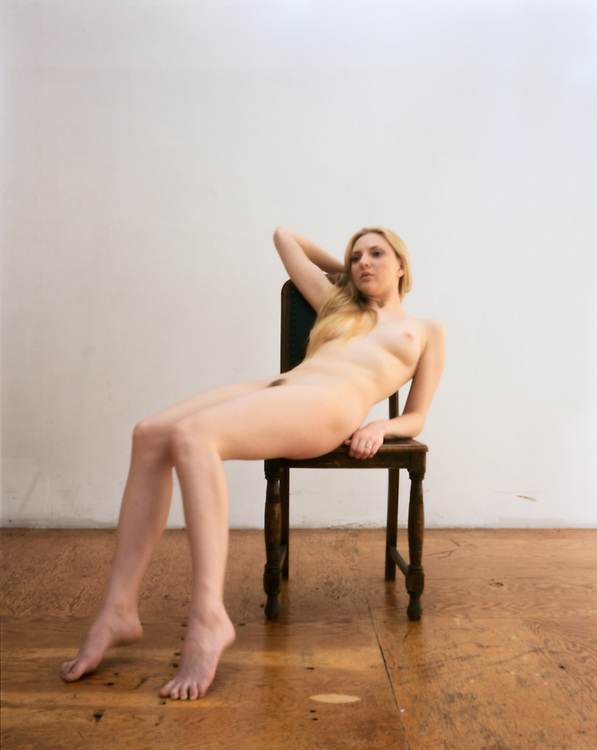 One in a series of nudes taken with an 8X10 pinhole camera in a studio once used by American photographer Matthew Brady.