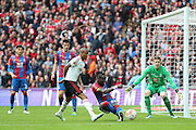 Pape N'Diaye Souare (23) of Crystal Palace clears the ball from Ashley Young of Manchester United during the The FA Cup Final between Crystal Palace and Manchester United at Wembley Stadium, London, England on 21 May 2016. Photo by Phil Duncan.