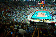 General view while volleyball match between Brazil and Russia during the 2014 FIVB Volleyball World Championships at Spodek Hall in Katowice on September 14, 2014.<br /> <br /> Poland, Katowice, September 14, 2014<br /> <br /> For editorial use only. Any commercial or promotional use requires permission.<br /> <br /> Mandatory credit:<br /> Photo by &copy; Adam Nurkiewicz / Mediasport
