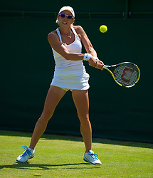 LONDON, ENGLAND - Tuesday, June 22, 2010: Anastasia Rodionova (AUS) during the Ladies' Singles 1st Round match on day two of the Wimbledon Lawn Tennis Championships at the All England Lawn Tennis and Croquet Club. (Pic by David Rawcliffe/Propaganda)