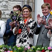 NLD/Middelburg/20100430 -  Koninginnedag 2010, Laurentien en partner Constantijn, Maxima en Willem - Alexander, Pieter - Christiaan