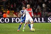 Dimitart BERBATOV / Lindsay ROSE - 01.02.2015 - Monaco / Lyon - 23eme journee de Ligue 1 -<br />Photo : Eric Gaillard / Icon Sport