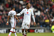 Milton Keynes Dons striker Nicky Maynard (28) during the Sky Bet Championship match between Milton Keynes Dons and Brighton and Hove Albion at stadium:mk, Milton Keynes, England on 19 March 2016.