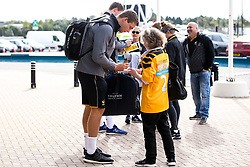 Thibaud Flament of Wasps signs autographs - Mandatory by-line: Robbie Stephenson/JMP - 12/10/2019 - RUGBY - Ricoh Arena - Coventry, England - Wasps v Worcester Warriors - Premiership Rugby Cup
