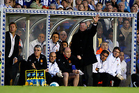 Photo: Richard Lane/Sportsbeat Images.<br />Birmingham City v Manchester United. The FA Barclays Premiership. 29/09/2007. <br />United manager, Sir Alex Ferguson waves.