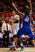 University of Utah vs Boise State Mens Basketball. ..Photo by  Nathan Sweet / Utah Athletics..