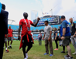 CHARLOTTE, USA - Sunday, July 22, 2018: Liverpool's Sadio Mane after a preseason International Champions Cup match between Borussia Dortmund and Liverpool FC at the  Bank of America Stadium. (Pic by David Rawcliffe/Propaganda)