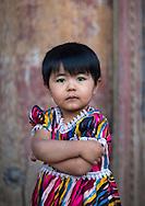 Young Uyghur girl, Kashgar, Xinjiang Uyghur autonomous region, China.