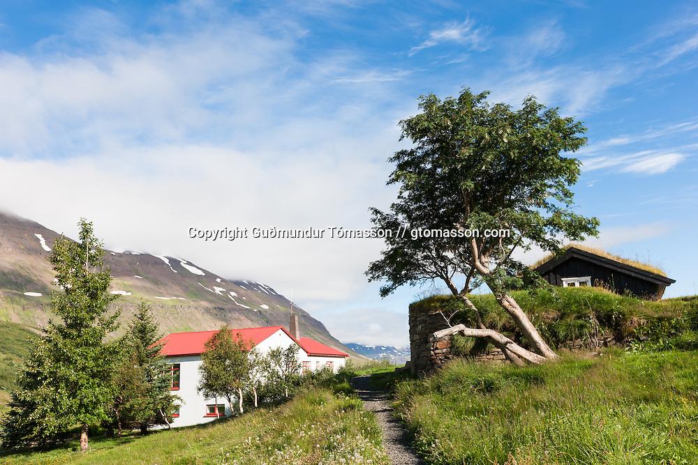 The travel farm Klængshóll, Skíðadalur, North Iceland.