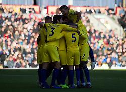 Willian of Chelsea (Hidden) celebrates scoring his sides third goal - Mandatory by-line: Jack Phillips/JMP - 28/10/2018 - FOOTBALL - Turf Moor - Burnley, England - Burnley v Chelsea - English Premier League