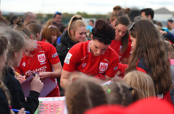 Bristol City Women players meet fans after holding Liverpool Ladies to a draw - Mandatory by-line: Paul Knight/JMP - 20/05/2017 - FOOTBALL - Stoke Gifford Stadium - Bristol, England - Bristol City Women v Liverpool Ladies - FA Women's Super League Spring Series