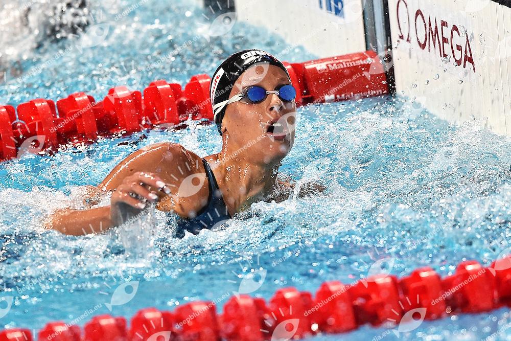 PELLEGRINI Federica ITA Silver Medal Women's 200m Freestyle <br /> Day13 05/08/2015 Kazan Arena <br /> Swimming Nuoto <br /> XVI FINA World Championships Aquatics  <br /> Kazan Tatarstan RUS <br /> Photo Andrea Staccioli/Deepbluemedia/Insidefoto