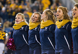 Oct 22, 2016; Morgantown, WV, USA; The West Virginia Mountaineers dance team celebrates after beating the TCU Horned Frogs at Milan Puskar Stadium. Mandatory Credit: Ben Queen-USA TODAY Sports