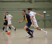 Fair City Santos (white) v  Wattcell (blue and yellow) in the Scottish Cup final - Scottish Futsal Finals Day at the DISC<br /> <br />  - &copy; David Young - www.davidyoungphoto.co.uk - email: davidyoungphoto@gmail.com