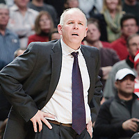 30 October 2010: Detroit Pistons head coach John Kuester reacts during the Chicago Bulls 101-91 victory over the Detroit Pistons at the United Center, in Chicago, Illinois, USA. ****** NORTH & SOUTH AMERICA SALES ONLY ----- NO AGENTS ----- NORTH & SOUTH AMERICA SALES ONLY ******