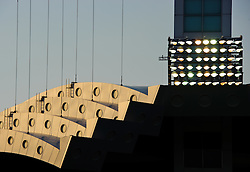 Floodlights at the Jassim Bin Hamad Stadium, also known as Al Sadd Stadium, home to Al Sadd of the Qatar National First Division