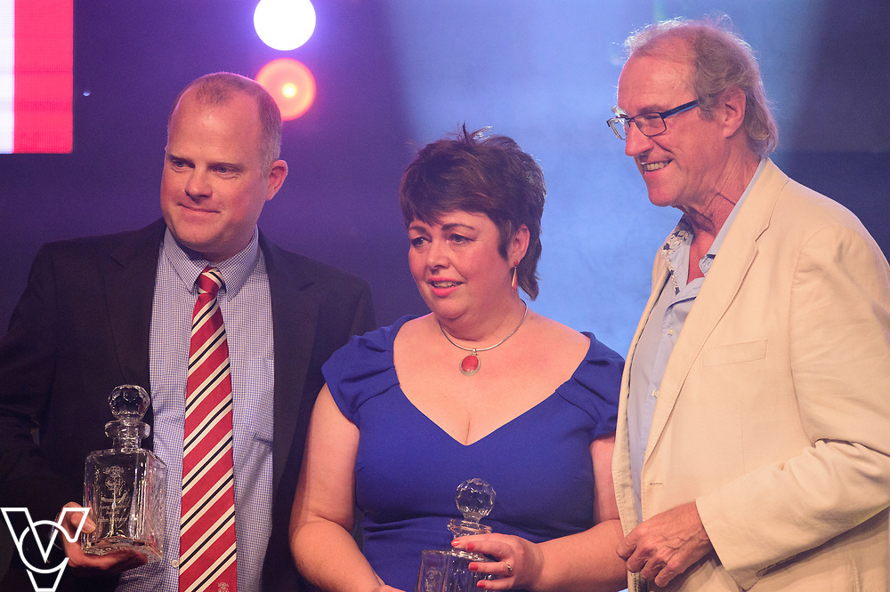 John Vickers, Dawn Cussens receive their Long Service awards from Lincoln City Chairman Bob Dorrian<br /> <br /> Lincoln City Football Club's 2016/17 End of Season Awards night - Champions Seasons Awards Dinner - held at the Lincolnshire Showground.<br /> <br /> Picture: Andrew Vaughan for Lincoln City Football Club<br /> Date: May 20, 2017 Champions Seasons Awards Dinner: