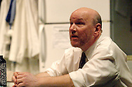 K. L. Storer as Ray during a dress rehearsal of Blackbird at the Dayton Theatre Guild, Thursday, April 21, 2011.