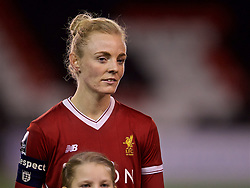 WIDNES, ENGLAND - Wednesday, February 7, 2018: Liverpool's Sophie Ingle before the FA Women's Super League 1 match between Liverpool Ladies FC and Arsenal Ladies FC at the Halton Stadium. (Pic by David Rawcliffe/Propaganda)