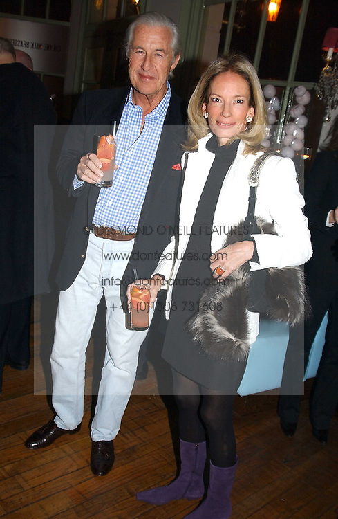MR & MRS MARTIN SUMMERS at a party to celebrate the publication of Style by interior designer Kelly Hoppen held at 50 Cheyne Walk, London on 10th November 2004.<br /><br />NON EXCLUSIVE - WORLD RIGHTS