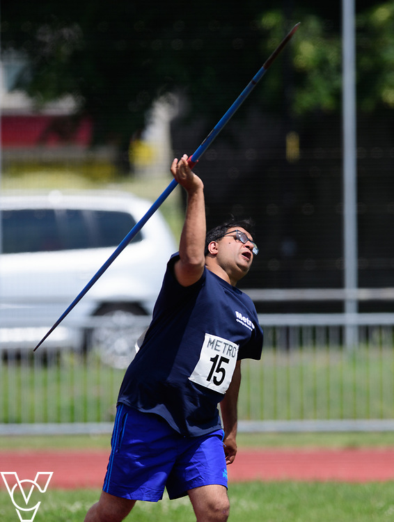 Metro Blind Sport's 2017 Athletics Open held at Mile End Stadium.  Javelin.  Atif Umer<br /> <br /> Picture: Chris Vaughan Photography for Metro Blind Sport<br /> Date: June 17, 2017
