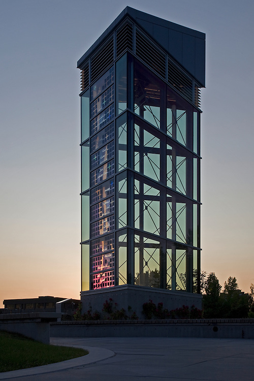 Regent College, UBC, Vancouver: Library Wind Tower