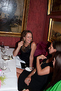 LADY GEORGIA BYNG; ROSEMARY FERGUSON, Dinner hosted by Elizabeth Saltzman for Mario Testino and Kate Moss. Mark's Club. London. 5 June 2010. -DO NOT ARCHIVE-© Copyright Photograph by Dafydd Jones. 248 Clapham Rd. London SW9 0PZ. Tel 0207 820 0771. www.dafjones.com.