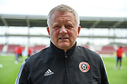 Sheffield United manager Chris Wilder during the Pre-Season Friendly match between Northampton Town and Sheffield United at the PTS Academy Stadium, Northampton, England on 20 July 2019.