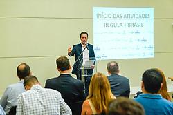 Porto Alegre, RS 25/01/2019: Em um evento que contou com as presenças do prefeito Nelson Marchezan Júnior, do secretário municipal de Saúde, Pablo Stürmer, do coordenador do TelessaúdeRS-UFRGS, Roberto Umpierre, e o diretor-executivo do Hospital Sírio-Libanês, Fernando Torelly, a Prefeitura de Porto Alegre, o Hospital Sírio-Libanês e o TelessaúdeRS-UFRGS anunciaram nesta sexta-feira (25), o início das atividades do Regula+Brasil na Capital gaúcha, projeto que ajudará a reduzir as filas de espera para consulta com especialistas. A cerimônia ocorreu no auditório do Telessaúde-RS, no bairro Moinhos de Vento. O Regula+Brasil faz parte do Programa de Apoio ao Desenvolvimento Institucional do Sistema Único de Saúde (PROADI-SUS), do Ministério da Saúde. É implementado pelo Hospital Sírio-Libanês, em parceria com a Universidade Federal do Rio Grande do Sul (UFRGS) e a Prefeitura de Porto Alegre. Foto: Jefferson Bernardes/PMPA