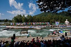 View on river Sava in the Men's Kayak K-1 at ICF Canoe Slalom World Championships - Sloka 2010 on September 12, 2010 in Tacen, Ljubljana, Slovenia (Photo by Matic Klansek Velej / Sportida)