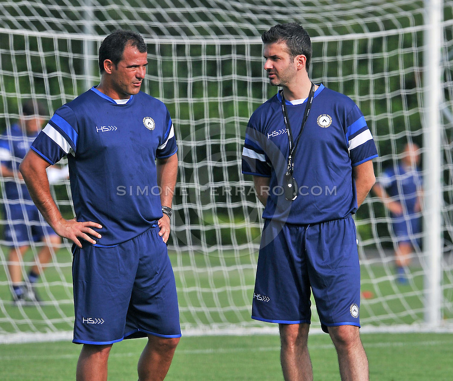 Udine 07/07/2014 calcio <br /> Udinese - Serie A 2014/15<br /> Primo allenamento per l'Udinese.<br /> Nella foto: Andrea Stramaccioni e il suo secondo allenatore Dejan Stankovic.<br /> &copy; foto di Simone Ferraro