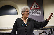 Roma, 14/03/2017: Giovanna Marini insegnante della lezione di Modi del Canto Contadino, Scuola Popolare di Musica di Testaccio.<br /> &copy; Andrea Sabbadini