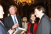 VISCOUNT BOYNE; JULIA HOWARD; PHILIP DUNNE, Celebration of the  200TH Anniversary of the  Birth of Rt.Hon. John Bright MP  and the publication of <br /> &Ocirc;John Bright: Statesman, Orator, Agitator&Otilde; by Bill Cash MP. Reform Club. London. 14 November 2011. <br /> <br />  , -DO NOT ARCHIVE-&copy; Copyright Photograph by Dafydd Jones. 248 Clapham Rd. London SW9 0PZ. Tel 0207 820 0771. www.dafjones.com.<br /> VISCOUNT BOYNE; JULIA HOWARD; PHILIP DUNNE, Celebration of the  200TH Anniversary of the  Birth of Rt.Hon. John Bright MP  and the publication of <br /> &lsquo;John Bright: Statesman, Orator, Agitator&rsquo; by Bill Cash MP. Reform Club. London. 14 November 2011. <br /> <br />  , -DO NOT ARCHIVE-&copy; Copyright Photograph by Dafydd Jones. 248 Clapham Rd. London SW9 0PZ. Tel 0207 820 0771. www.dafjones.com.