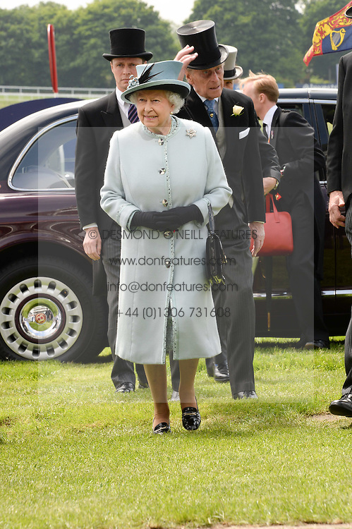 HM The QUEEN at the Investec Derby 2013 held at Epsom Racecourse, Epsom, Surrey on 1st June 2013.