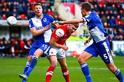 Michael Smith of Rotherham United heads at goal - Mandatory by-line: Ryan Crockett/JMP - 18/01/2020 - FOOTBALL - Aesseal New York Stadium - Rotherham, England - Rotherham United v Bristol Rovers - Sky Bet League One