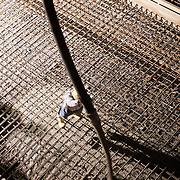 Pouring concrete at Kent Narrows Treatment Plant.