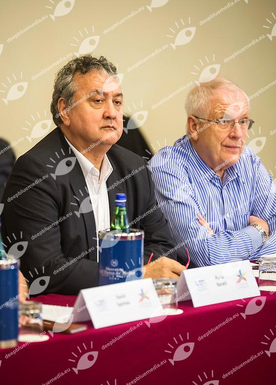 Paolo Barelli LEN President<br /> Swein Arne Hansen<br /> LEN European Championships Congress<br /> Rome 27-10-2016<br /> Sheraton Hotel Parco de' Medici<br /> Photo Pasquale Mesiano/Deepbluemedia/Insidefoto