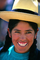 Sunday Indian Market (all trading done by barter), Chincero, Sacred Valley of the Incas, Peru.