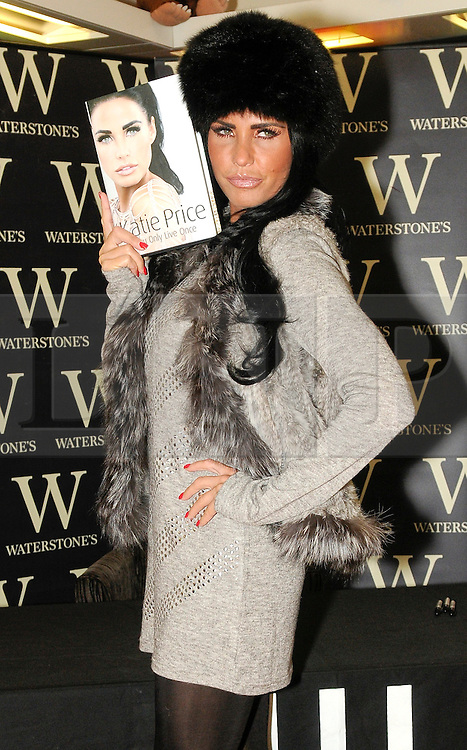 "© under license to London News Pictures. 25.11.2010 Katie Price at Waterstones in Bluewater to Launch her new book. "" You Only Live Once""(5pm).  Picture credit should read Grant Falvey/London News Pictures"