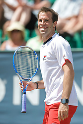 NOTTINGHAM, ENGLAND - Sunday, June 14, 2009: Greg Rusedski (GBR) on finals day of the Tradition Nottingham Masters tennis event at the Nottingham Tennis Centre. (Pic by David Rawcliffe/Propaganda)